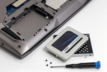 Crucial MX300 275GB Interne Festplatte SATA (7mm (mit 9,5mm-Adapter), 2,5Zoll) silver -