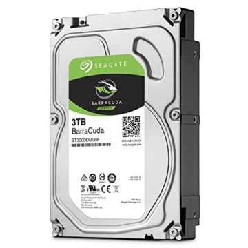 Seagate BarraCuda 3 TB, ST3000DM008, interne Festplatte, 8,9 cm (3,5 Zoll), 64 MB Cache, SATA 6Gb/s -