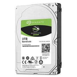 Seagate BarraCuda 3 TB, ST3000LM024, interne Festplatte, 15mm,6,4 cm (2,5 Zoll), 128MB Cache, SATA 6 Gb/s schwarz -