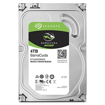 Seagate Barracuda 4 TB, ST4000DM005, interne Festplatte, 8,9 cm (3,5 Zoll), 64 MB Cache, SATA 6Gb/s -