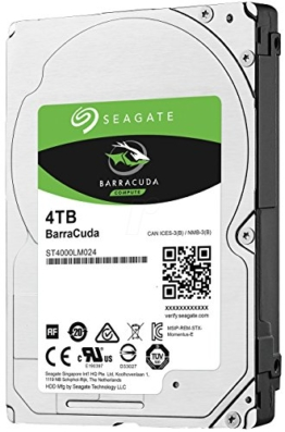 Seagate BarraCuda 4 TB, ST4000LM024, interne Festplatte, 15mm,6,4 cm (2,5 Zoll), 128MB Cache, SATA 6 Gb/s schwarz -