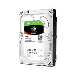 Seagate FireCuda 1TB, ST1000DX002, interne Hybrid Festplatte, SSHD, 8,9 cm (3,5 Zoll), 64 MB Cache, SATA 6Gb/s -