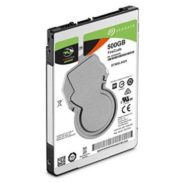Seagate FireCuda 500 GB,ST500LX025, interne Hybrid Festplatte SSHD, 6,4 cm (2,5 Zoll), 64 MB Cache, SATA 6Gb/s schwarz -