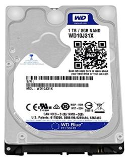 WD Blue 1TB SSHD Interne Festplatte (6,4 cm (2,5 Zoll) für den Einsatz in PCs, Hochleistungs-Workstations und Spielkonsolen) -