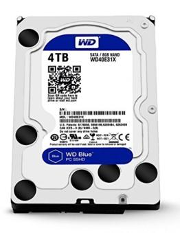 WD Blue 4 TB SSHD Interne Festplatte (8,9 cm (3,5 Zoll) für den Einsatz in PCs, Hochleistungs-Workstations und Spielkonsolen) -