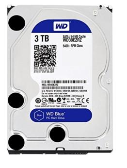 WD Blue WD30EZRZ 3 TB Interne Festplatte (8,9 cm (3,5 Zoll), SATA 6 Gb/s (bulk)) -